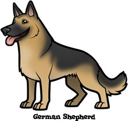 cartoon german shepard | German Shepherd