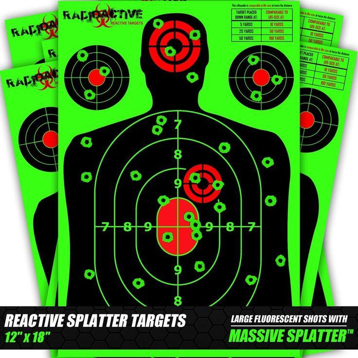 25 Pack Splatter Targets 12 x 18 Inch Reactive Targets  Largest Splatter Effect #RadioactiveReactiveTargets