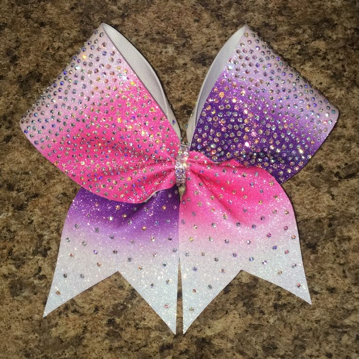 cheer bow, rhinestone bow, ombre bow, pink bow, competition bow, cheerleading, cheerleader, any color by Baddablingbows on Etsy https://www.etsy.com/listing/279421914/cheer-bow-rhinestone-bow-ombre-bow-pink