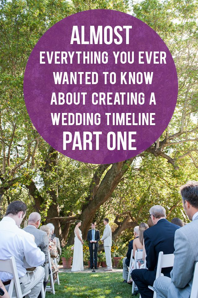 A Practical Wedding: Creating a Wedding Timeline from Lowe House Events