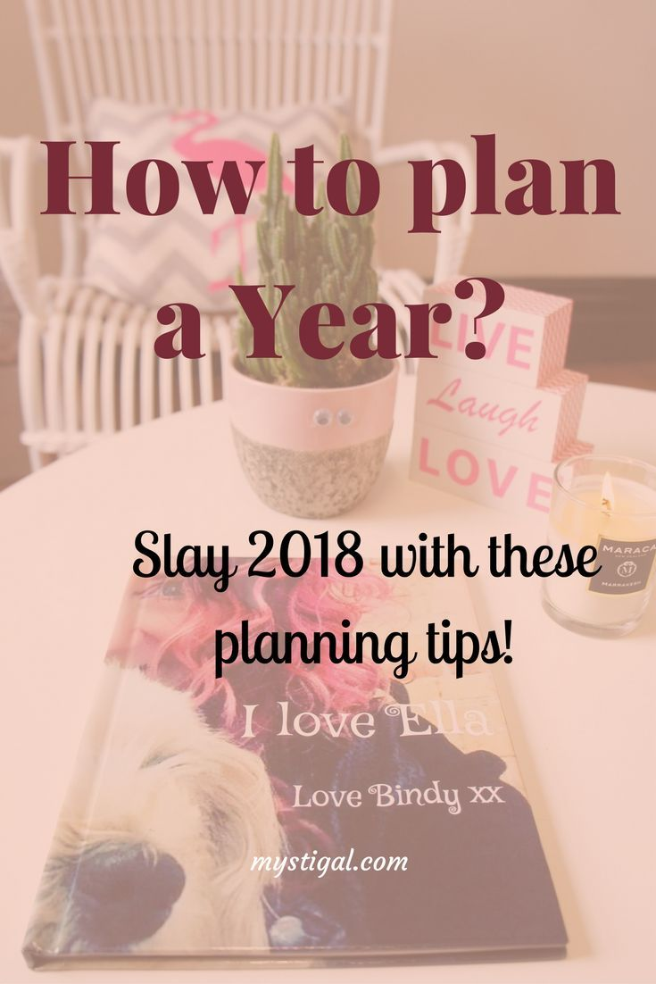 Plan 2018 new year to get the most out of it. These tips will help you plan the year, set the goals and take the right action steps!