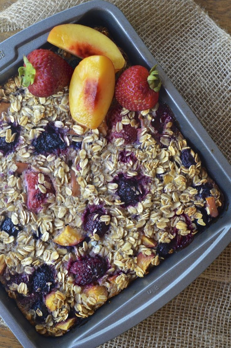 Summer fruit, Baked oatmeal and Oatmeal on Pinterest