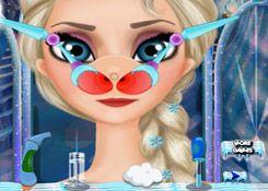 JuegosElsa.com - Juego: Médico Oídos Elsa - Minijuegos de la Princesa Elsa Frozen Disney Jugar Gratis Online
