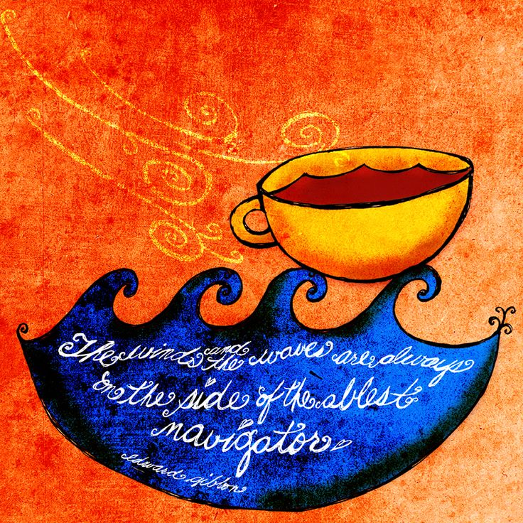 The wind and the waves. What my coffee says to me
