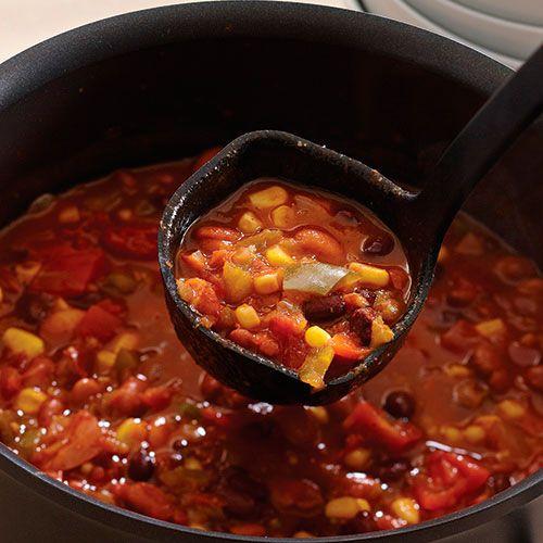Three+Bean+Vegetarian+Chili+-+The+Pampered+Chef®