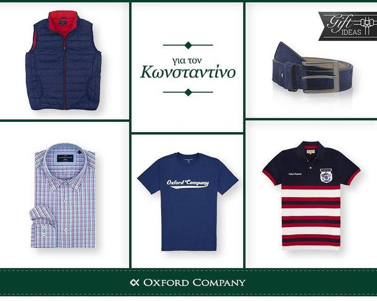 GIFT IDEAS !Ψάχνετε δώρο για τον Κωνσταντίνο; Το βρήκαμε εμείς για εσάς και σίγουρα θα τον εντυπωσιάσει. Για περισσότερες επιλογές μπείτε στο e-shop μας ή επισκεφθείτε το κοντινότερο σε εσάς κατάστημά μας. www.oxfordcompany.gr