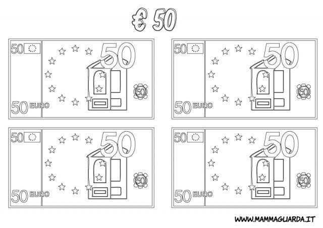 Risultati Immagini Per Euro Da Colorare Per Bambini Mate Cl 2