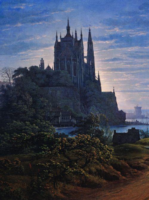 jaded-mandarin: Karl Friedrich Schinkel. Detail from Gothic... - Things She Loves
