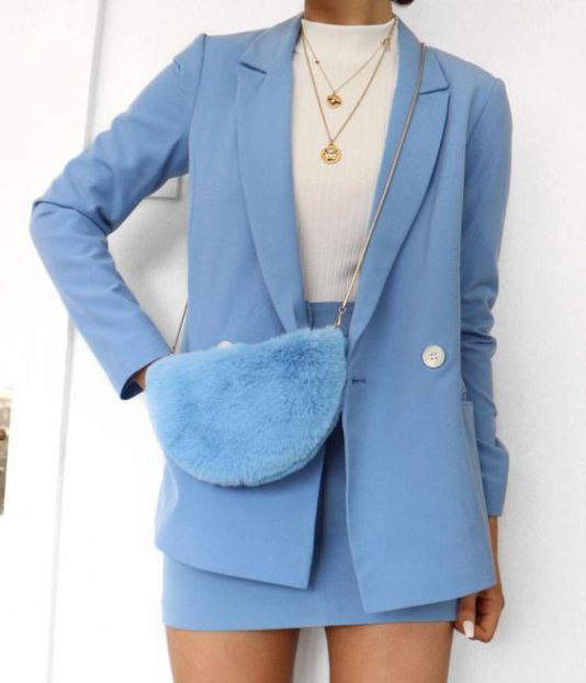 Love the blue blazer. #matchingsets #blazer #workoutfit #officeoutfit #ootd