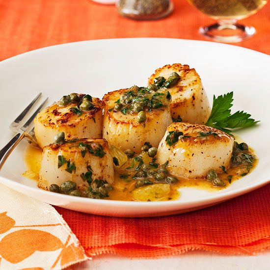 Super fast Lemon-Caper Scallops super fast. Will use less butter.