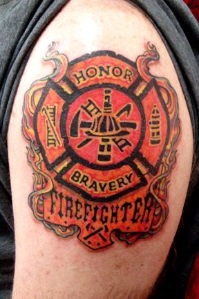 43 best images about firefighter tattoos on pinterest for Firefighter tattoos and meanings