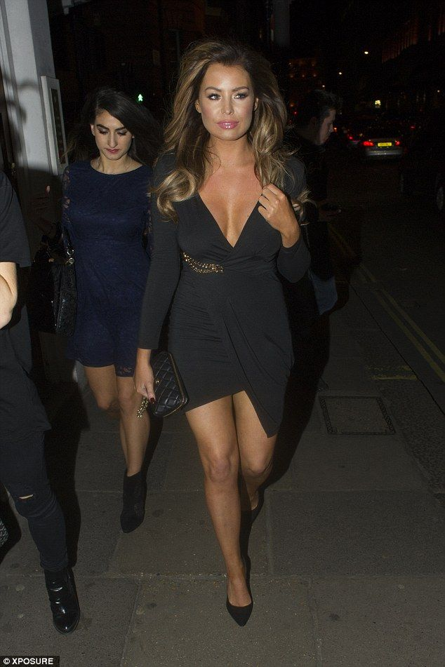 Stunning: Jessica Wright yet again looked sensational as she enjoyed a night out at Sexy F...