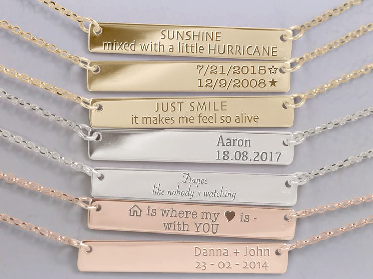 Personalized Bar Necklace Nameplate Necklace Bar Necklace Bridesmaid Gift Name Necklaces Name plate Personalized jewelry Nameplate Necklaces