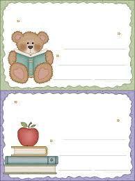 etiquetas infantil escolar para imprimir - Pesquisa Google