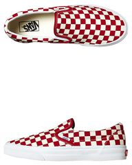 VANS CLASSIC SLIP ON SHOE - RED WHITE CHECKER on http://www.surfstitch.com