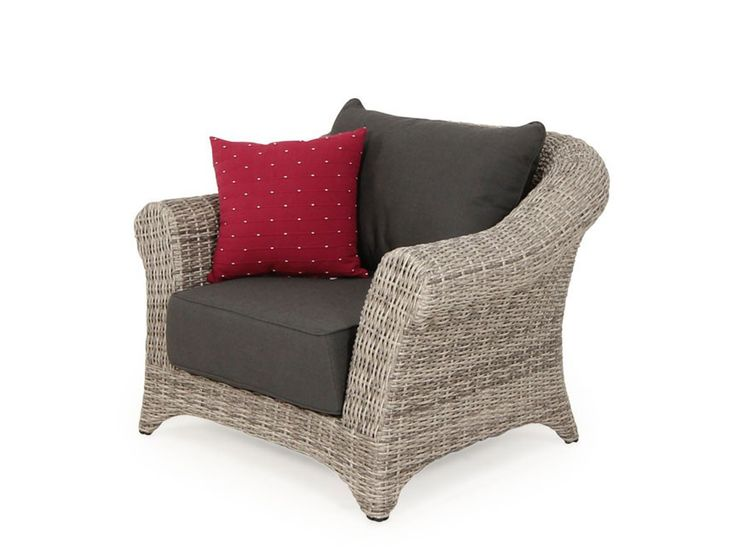 Versailles Single Outdoor Wicker Arm Chair | Outdoor Wicker Lounge setting