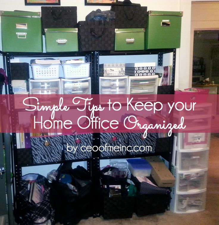 Follow these tips to efficiently organize your home office for Office organization tips and ideas