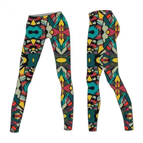 the wings of a butterfly ..lovely colours,a modern pattern for leggings
