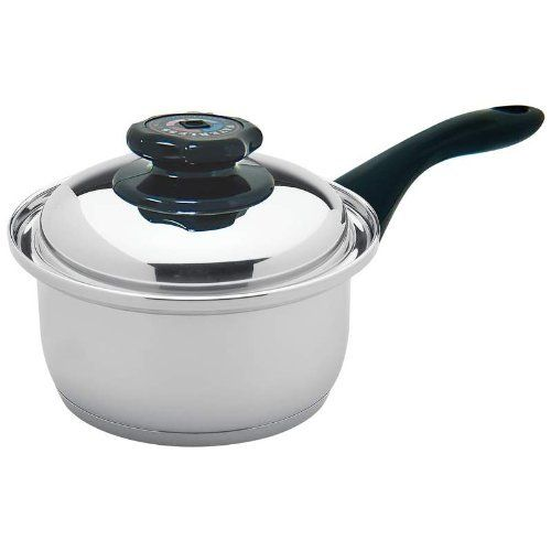 Maxam Waterless Small Saucepan by Maxam. $59.99. Waterless with Steam Control Valve. Surgical Stainless Steel. Small Saucepan - holds 1.7 quarts. 9-Element encapsulated base. Maxam 9-Element 1.7qt Waterless Saucepan with Cover. This surgical stainless pan features steam control lid, capsule bottom, heavy-duty handle with handy hang-up design, and mirror finish on the outside for beauty. Dishwasher safe.. Save 45%!