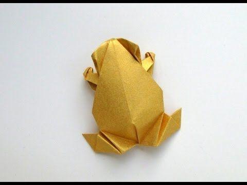 折り紙カエルの折り方。シンプルなカエルの作り方 | 大人の折り紙インテリア