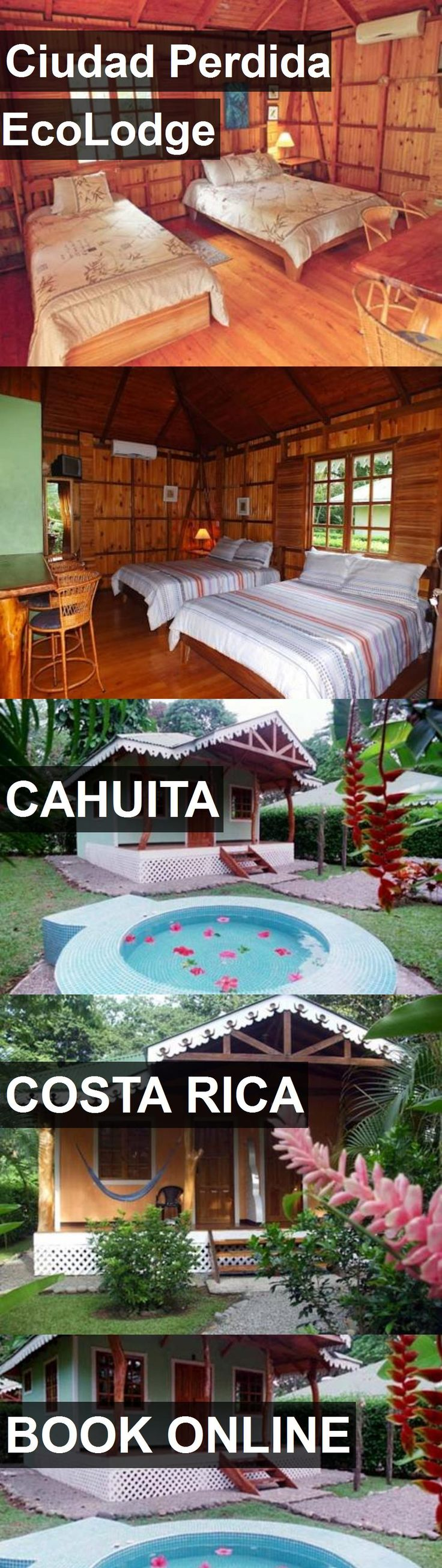 Hotel Ciudad Perdida EcoLodge in Cahuita, Costa Rica. For more information, photos, reviews and best prices please follow the link. #CostaRica #Cahuita #travel #vacation #hotel