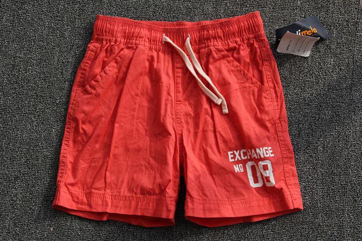 Иностранные дети мальчик шорты пляж брюки хлопка случайные брюки хлопок упругие талии брюки средние и маленькие дети - Taobao