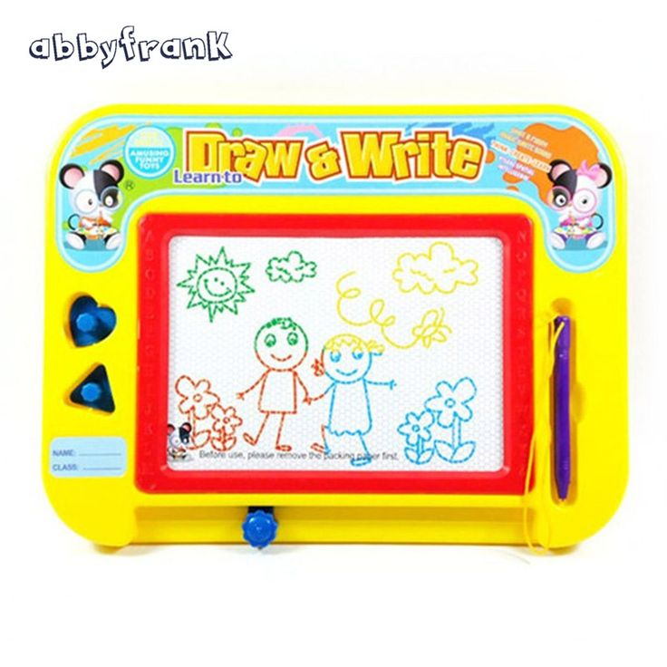 On Sale Abbyfrank Magnetic Drawing Tablet Writing Board Puzzle Magic Color Pen Drawing Scraping Children Board Baby Learning Gift Toy
