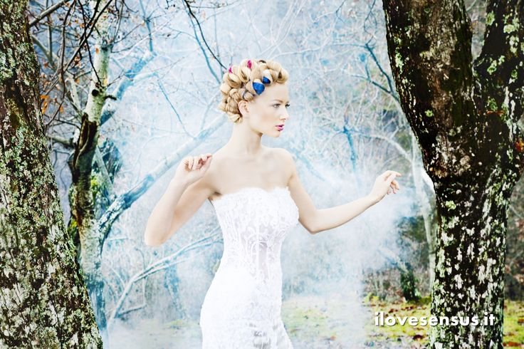Woman in a woodland Updo, hairstyle, blond