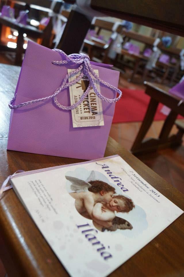Wedding bag + libretto matrimonio - tema viola