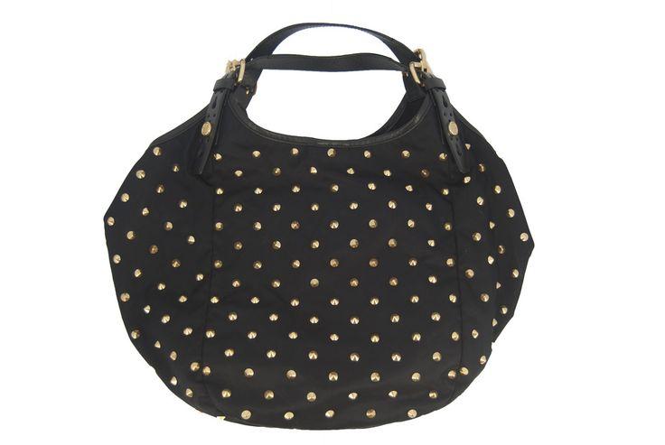 Givenchy Studded Black Nylon/Leather Handbag