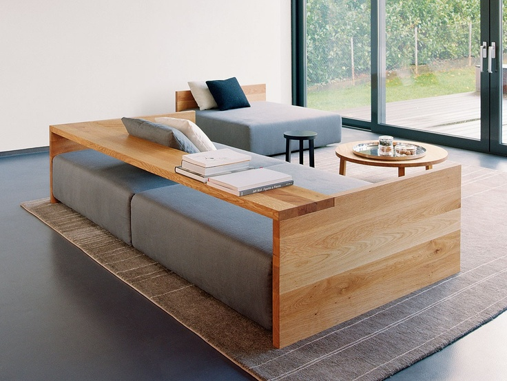 Wood and couch