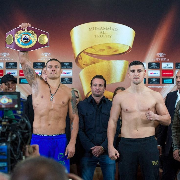 "Ukrainian Aleksandr Usyk (199 lbs) and German Marko Huck (198 lbs) are ready for Saturday's premiere of the World Boxing Super Series and the quest for the Ali Trophy at the Max-Schmeling-Halle, Berlin. ""I feel very good,"" said the WBO champion who was supported by a loud crowd of Ukrainian countrymen at today's weigh-in at the Max-Schmeling-Halle. ""I'm ready to impress the fans in Berlin and the people watching around the world,"" ""I can't wait for the fight,"" said Huck. ""The training is…"
