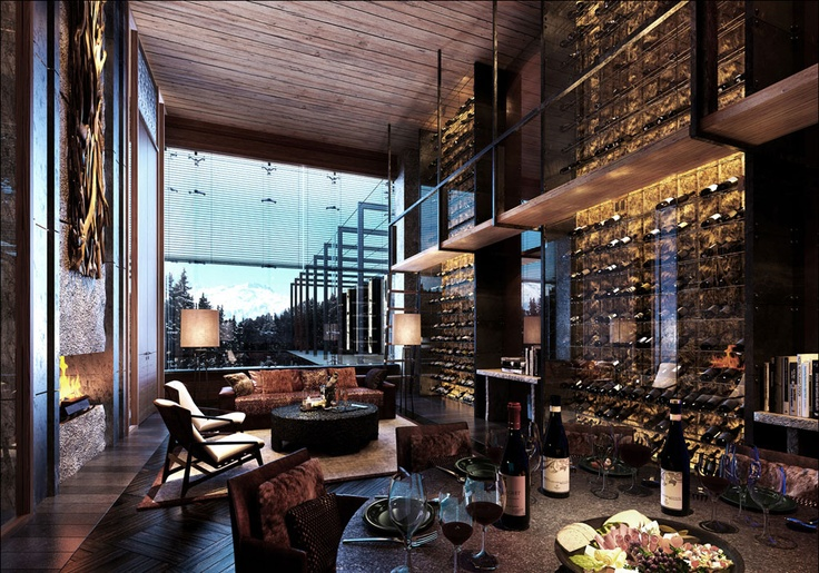 Wait!!! Is this my living room?????? Errrrrr nope.......The Chedi Andermatt Wine and Cigar Library....