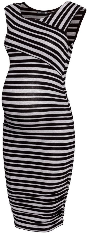This maternity dress paired with a black blazer is perfect for work or even a night out. Great price too.