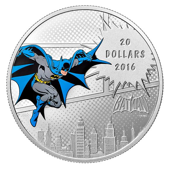 DC Comics(TM) Originals - 1 oz. Pure Silver Coloured 3-Coin Subscription (2016)