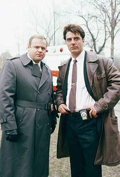 LAW ORDER 'By Hooker by Crook' Episode 7 Air Date Pictured George Dzundza as Sgt Max Greevey and Chris Noth as Detective Mike Logan