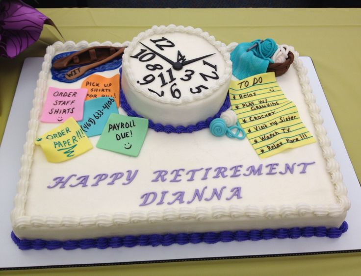 Retirement Cake Roxyes Cakes Pinterest Cakes And Posts