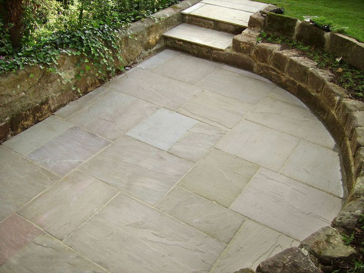 Natural Indian Sandstone Raj Green Patio Paving Flags Slabs 18m2 Coverage in Garden & Patio, Landscaping & Garden Materials, Paving & Decking | eBay