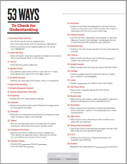 50+ Ways to Do Formative Assessment in Class Classroom Pinterest