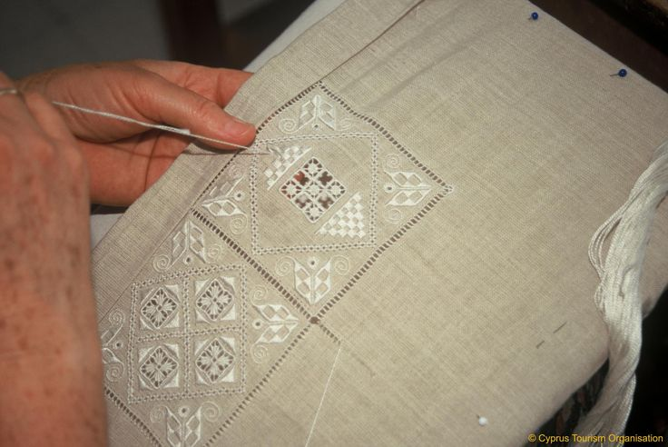 Cyprus Tradition Lefkara Village Lefkaritika Embroidery