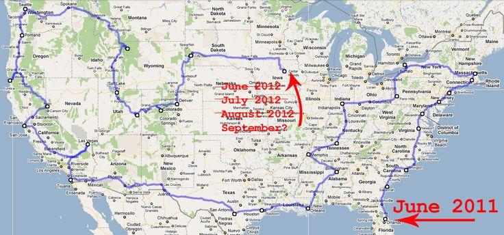 Rv Traveling America Road Trip Map Travel Pinterest