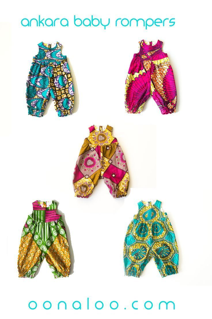 6298c25c86e0 These Ankara baby rompers make a beautiful and unique baby shower gift.  Click through to see baby dresses