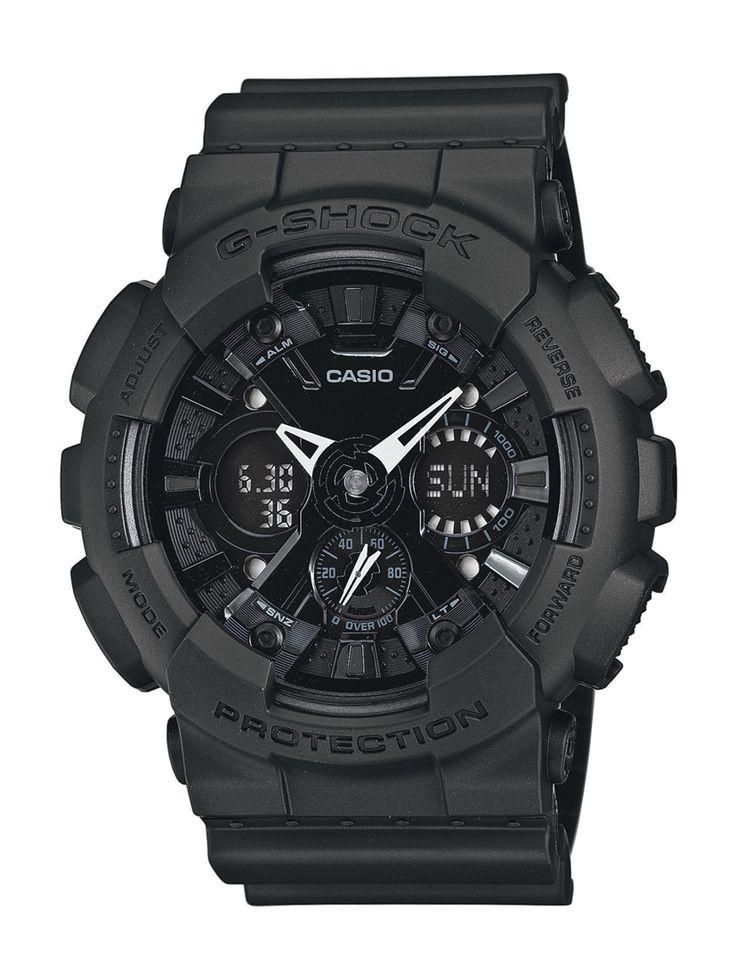 Casio G-Shock GA-120BB-1AER férfi karóra. Különleges külsővel rendelkezik, sportos megjelenést ad. Kényelmes viselet a műanyag szíjnak köszönhetően. Mai kornak megfelelően elemes óraszerkezettel rendelkezik. Extrém vízállósággal készültek ezért a karóra könnyű búvárkodásra is alkalmas. KATTINTS IDE!