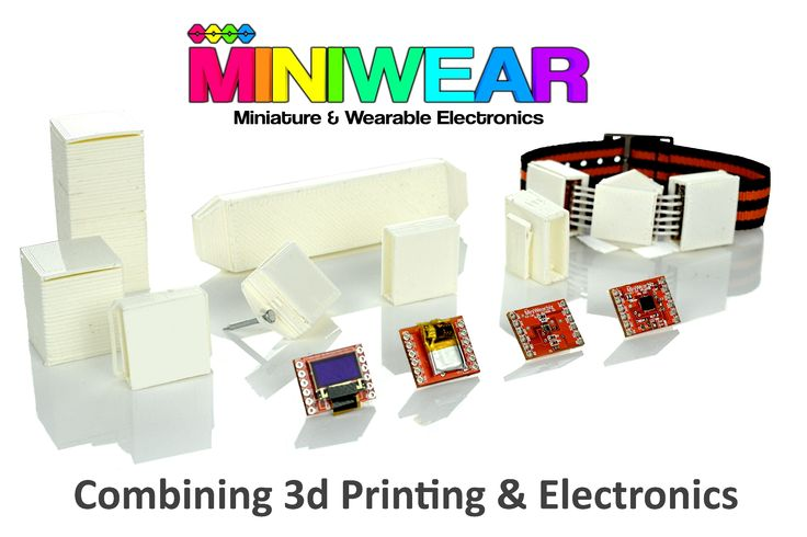 Introducing MiniWear - Combining 3d Printing With DIY Miniature And Wearable Electronics #Wearable #Electronics #Tech #DIY #3dprinting