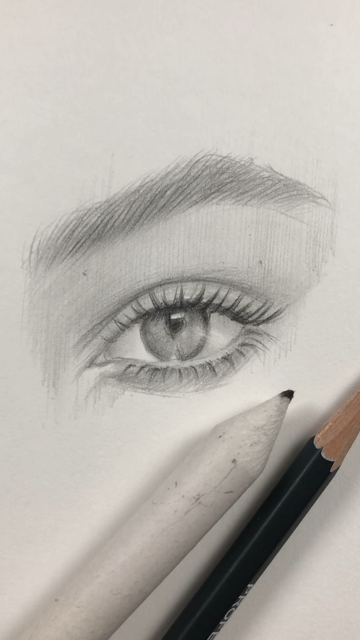 Freehand drawing of the eye by Nadia Coolrista