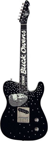 The John Bolin-made Telecaster guitar presented to Buck Owens by Billy Gibbons of ZZ Top fame...