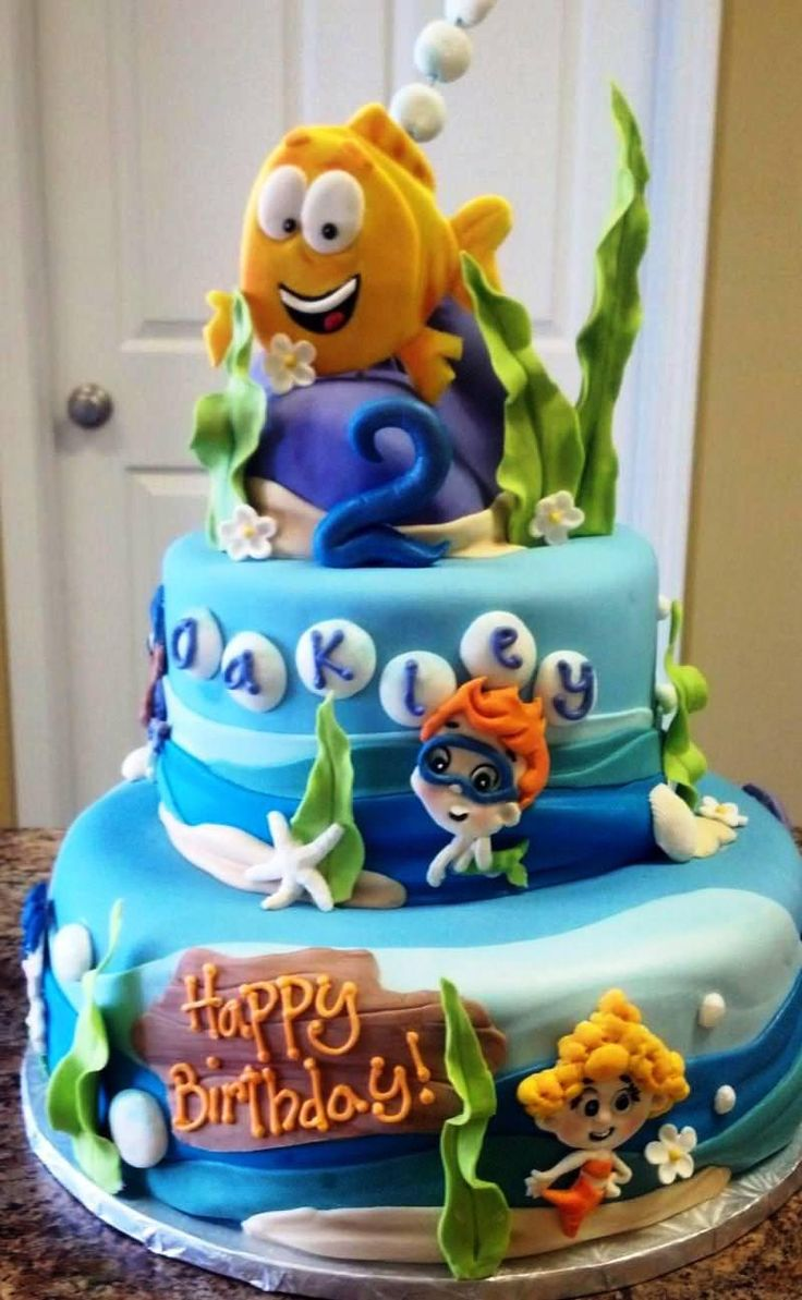 Best 25 Bubble guppies birthday cake ideas on Pinterest Mermaid