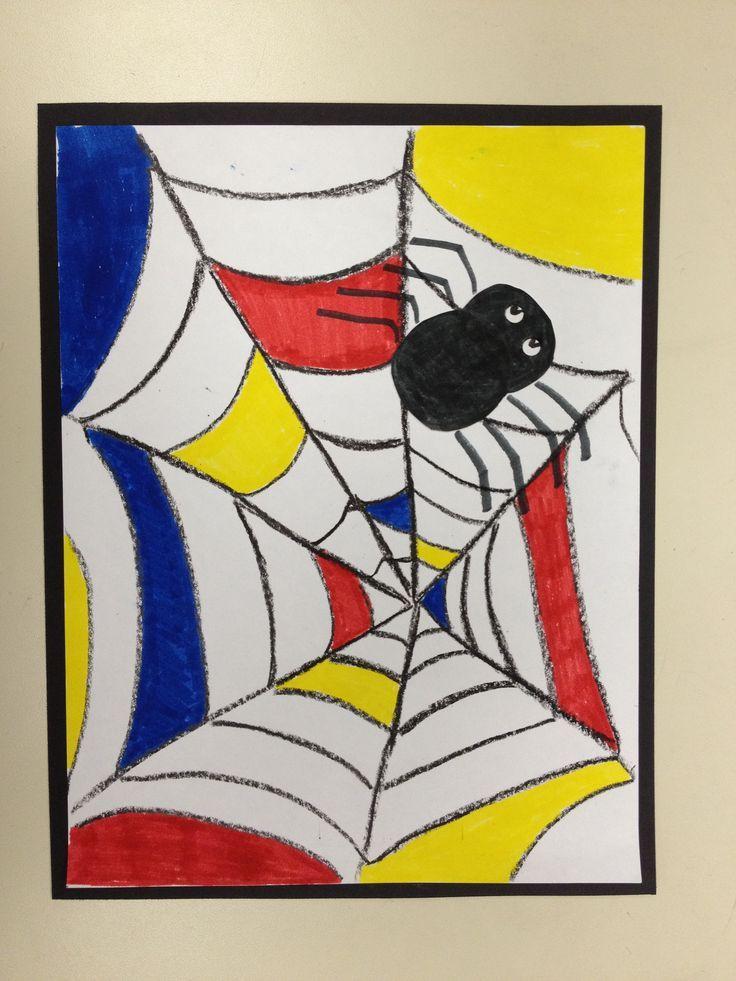 Kindergarten Mondrian...love this alternative idea for Halloween.