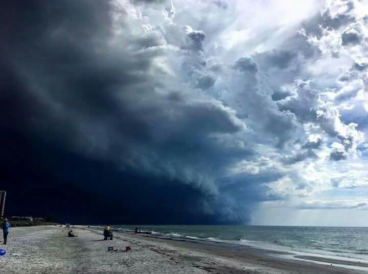 A view of Tropical Storm Hermine from St. Petersburg, Florida.