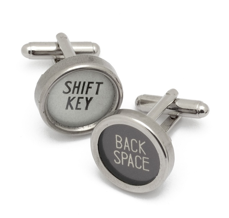 These cufflinks, available at EcoArtware.com, are made from recycled typewriter keys. http://vivmag.com/holiday-shopping-guide-sites-that-offer-truly-unique-gifts/#